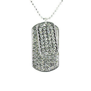 Bling Dog Tag Necklace MORE COLOURS AVAILABLE