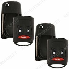 2 Replacement for Dodge Magnum Nitro Ram Remote Key Fob Kobdt04a Shell Flip Case