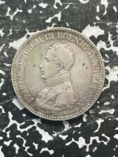 1818-D Germany Prussia 1 Thaler Lot#JM2832 Large Silver Coin!