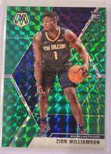 2019-20 Panini Mosaic Zion Williamson Green Prizm Rookie Card RC - Pelicans