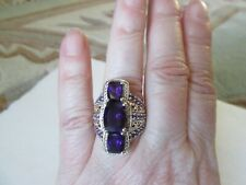 Lusaka Amethyst Ring Size 7 Platinum over Sterling Silver TGW 6.85 cts.