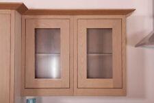 MFI Kelmscott Howdens Haworth Solid Oak Kitchen 500mm X 775mm Glazed Wall Door