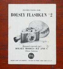 BOLSEY FLASHGUN 2 INSTRUCTION BOOK/175837