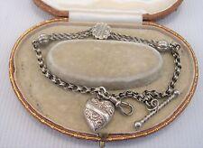 Victorian Albertean Bracelet set in Silver