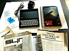VINTAGE SINCLAIR ZX81 PERSONAL COMPUTER W/PROGRAMMING BOOK & ADAPTER-UNTESTED