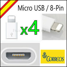 Adaptador Micro USB a 8 PIN Lightning iPhone 5/6/7/8/X Cable iPad Conversor