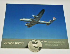 Vintage Trans World Airlines Flagship Ad Poster Photo Advertisement Art 1950