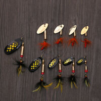 Sechine Metallo Durabile Lure di pesca Spoon Spinner Treble Hook Crank Bait