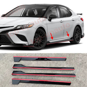 For Toyota Camry 2018-2021 TRD style Side body Skirt Diffuser Separation Wings