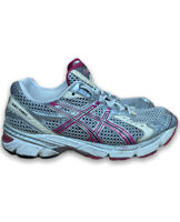Asics Womens Size 5.5 Gel 1160 T0J8N Silver Pink Running Shoes Lace Up Low Top