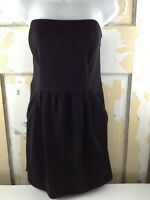 RACHEL RACHEL ROY Black Strapless Dress 10 Elastic Straps at Back Side Pockets