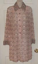 Vintage 1960's De Paul Size S-M Heavily Beaded Made In Hong Kong Women's Dress