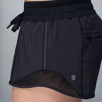 Lululemon Hotty Hot Short Black Speed Turbo Yoga Shorts Mesh Size 8 New