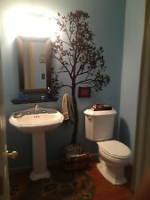Simple Tree Large Wall Decal Forest Vinyl Sticker Nursery Art Detailed Bathroom