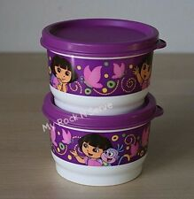 TUPPERWARE Dora The Explorer  4 oz Snack Cup (2) New