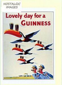Guinness - nostalgic 1955 advertisement. Hand made greeting card. blank inside.