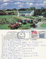 1992 THE AMISH HOMESTEAD LANCASTER PENNSYLVANIA UNITED STATES POSTCARD