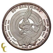 Bugs Bunny Limited Edition 1 Oz Silver Coin 50th Birthday Warner Bros Inc