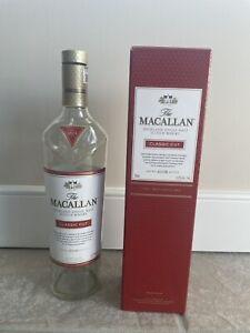 The Macallan Classic Cut Scotch Single Malt Empty Whisky Limited Edition 18 Rare