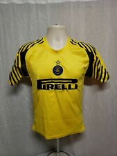 Pirelli Inter Milan Football Club Boys Size 12 Yellow Soccer Jersey
