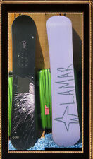 Snowboard Lamar 144 CM Black with Firworks Design 57 inch  snow Board