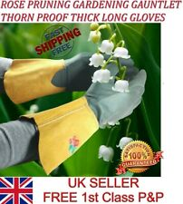 LTG Ladies Gardening Leather Long Gloves Thorn Resistance Garden Work Safety DIY