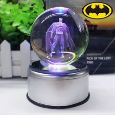 DC Batman 3D Gran Bola de Cristal Ball LED Luz de noche Lámpara Nocturna Regalo