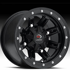 ATV RIM WHEEL 12x8 4/156 4+4 Vision Type 550 Five-Fifty MatteBlack 550-128156MB4
