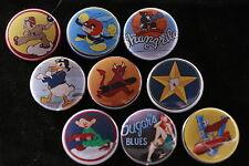 Magnet Lot Set of 9 WW2 Bomber Nose Art Pin up Pin-up Donald Duck USAF Fridge B