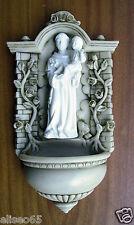 ACQUASANTIERA SANT' ANTONIO in polvere di alabastro (Marmo) 24 x 13 cm