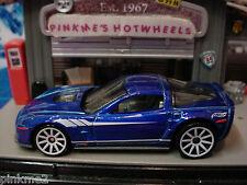 2014 Hot Wheels '09 CORVETTE ZR1 2009✿Dark Blue;white 10sp☆Multi Pack Ex☆Loose