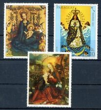 PARAGUAY - PAINTING- CHRISTMAS Mi # 3474/6 Complete Set MH, VF