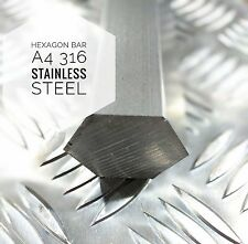 A4 316 Stainless Steel Bar Hexagon 8mm To 50mm Cut To Length ***