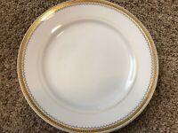 Vintage Noritake M Rare 8'' Salad Plate - N2867 Greek Key Gold