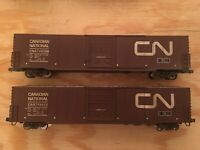 HO Walthers Canadian National Lot Of 2 60' Auto Boxcars WEATHERED CN CP BNSF CSX