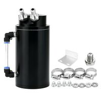 Oil Catch Reservoir Tank Can Breather Kit Billet Aluminum Cylinder Black New #