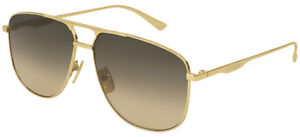 Gucci GG0336S Gold/Brown Shaded 60/13/145 men Sunglasses