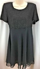 WOMENS LAWRENCE KAZAR BEADED COCKTAIL DRESS SIZE M BLACK