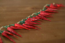 2 x Artificial Chili Strands Fake Fruit Vegetables Faux Food Home Decor 50cms