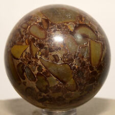 47mm Natural Bamboo Jasper Fossil Sphere Gemstone Crystal Mineral Ball - China