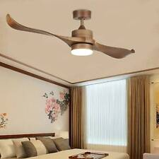 Indoor Ceiling Fan w/ Led Panel Light & Remote Control Brushed White Finish 52'
