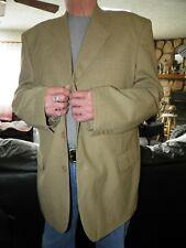 Men's Tan Patterned Irvine Park Sport Coat Blazer Size 48 L