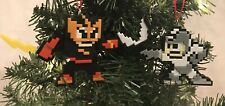 Capcom Mega Electric Man 8 Bit Christmas Tree Ornament Set Nintendo NES Retro