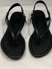 Tori Burch Black Sandals Miller Size 9 1/2