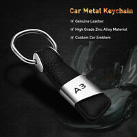 Keychain Car Keyfob Key Chain Ring Gift Metal Creative Leather Men Pendant Fob