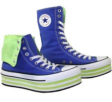 Men's Women's CONVERSE All Star PLATFORM XHI TOP Blue Trainers Boots SIZE UK 7.5