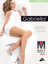 GABRIELLA Dita Luxury Super Fine 15 Denier Sheer Matt Tights - 2 Colours