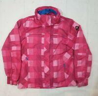 ICEPEAK Women Pink Check Retro Ski Softshell Jacket Coat Size 38 US:10 UK:12