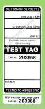250 x BLACK Premium Electrical Adhesive Test Tag Labels