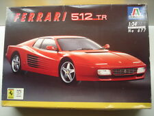 Italeri 1:24 Scale Ferrari 512 TR Model Kit - Used - Kit # 677
